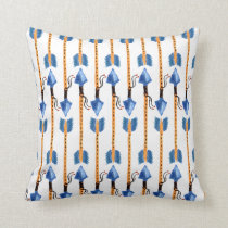 boho chic feather arrow native pattern throw pillow
