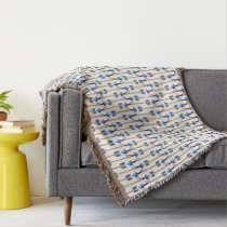 boho chic feather arrow pattern blanket