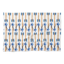 boho chic feather arrow pattern kitchen towel