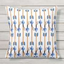 boho chic feather arrow pattern outdoor pillow