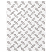 boho chic feathers pattern fleece blanket