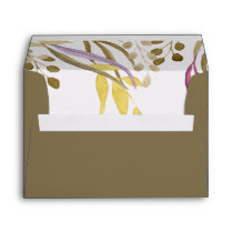 boho chic Floral Liner Wedding envelopes