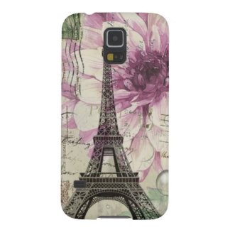 Boho Chic floral Vintage Paris Eiffel Tower Galaxy S5 Cover