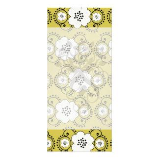 boho chic flower mod damask rack cards