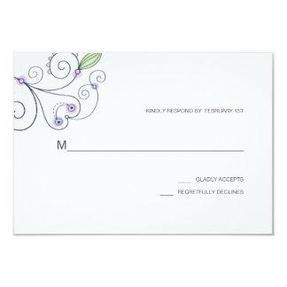 BOHO Chic Garden Wedding Purple RSVP Card