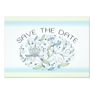 BOHO Chic Garden Wedding Save the Date Photo Card