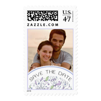 Boho Chic Lavender Save the Date Photo Postage