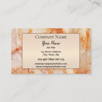 Boho Chic Marble Art Business Card