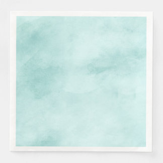 Boho Chic Mint Watercolor Texture Wedding Paper Dinner Napkin