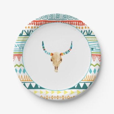 Aztec Themed Boho Chic Paper Plate