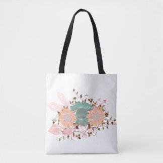Boho Chic Pastel Sunflower Vine Tote Bag