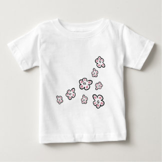 Boho Chic Plum Flower Design T-shirt