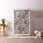 Boho Chic Retro Hippy Paisley Fabric