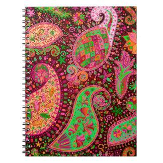Boho Chic Retro Hippy Paisley Notebook