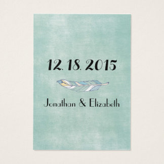 Boho Chic Save the Date Reminders Large Business Card