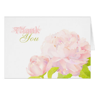 Boho & Chic Southern Peony Wedding Thank You Cards