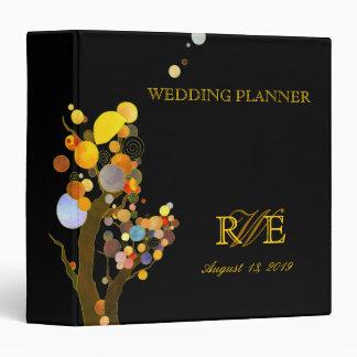 Boho Chic Trees Evening Wedding Planner 3 Ring Binder
