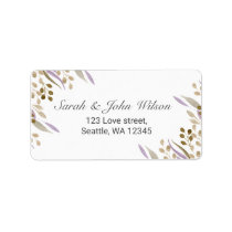 boho chic watercolor foliage address labels