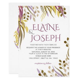 Botanical Branches Wedding Invitations