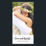 """Boho Chic   Wedding Thank You Photo Card<br><div class=""""desc"""">Photographs provided courtesy of &#169;Blush Photography    For more colors and styles visit our shop!</div>"""