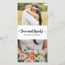 Boho Chic | Wedding Thank You Photo Card