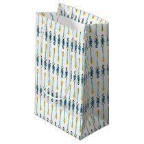 boho chic yellow blue arrows gift bag