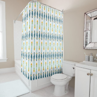 yellow and blue shower curtain. boho chic yellow blue arrows shower curtain Arrow Shower Curtains  Zazzle