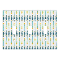 boho chic yellow blue arrows switch plate
