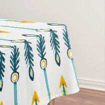 boho chic yellow blue arrows table cover tablecloth