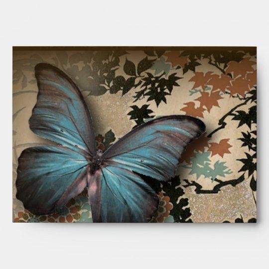 boho chicfloral butterfly vintage Victorian Shoe Envelope