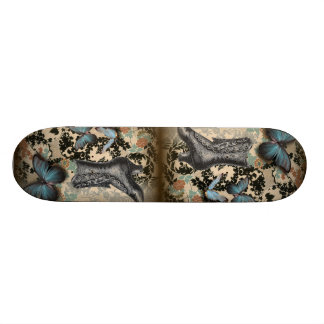 boho chicfloral butterfly vintage Victorian Shoe Skateboard