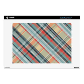 boho colorful preppy plaid pattern skin for laptop