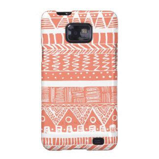 Boho Coral Aztec Galaxy S2 Case