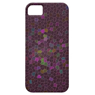 Boho Cranberry Quilted Tile Ethnic Graphic iPhone SE/5/5s Case
