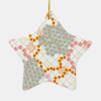 Boho Daisy Chain Ceramic Ornament