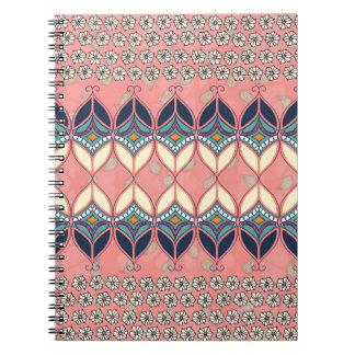 Boho Daisy Spiral Notebook