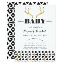 Boho Deer Baby Shower Invitation