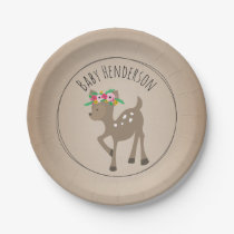 Boho Deer Cardstock Inspired Custom Baby Shower Paper Plate