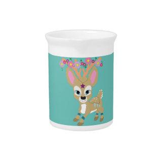 Boho Deer Drink Pitcher