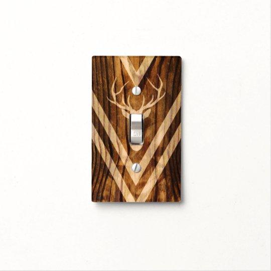 Boho Deer On Rustic Wood Light Switch Cover Zazzlecom