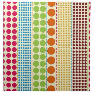 Boho Dots Cloth Dinner Napkins - Set Of 4