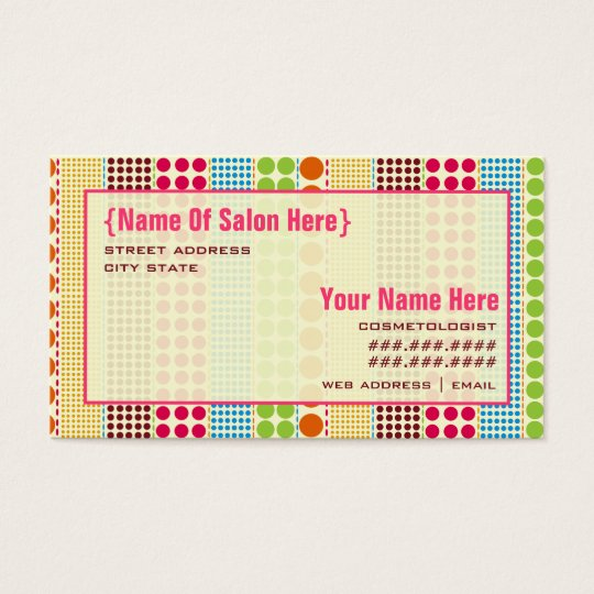 Boho Dots Cosmetologist Salon Appointment Business Card