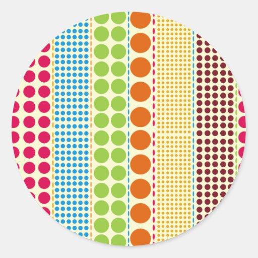 Boho Dots Envelope Seal Sticker