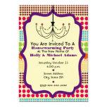 Boho Dots Funky Chandelier Housewarming Party 5x7 Paper Invitation Card