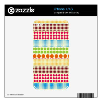 Boho Dots iPhone 4/4S Skin Decal For The iPhone 4