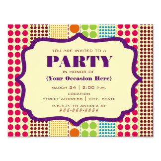 Boho Dots Party Invitation