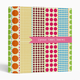 Boho Dots Personalized Binder