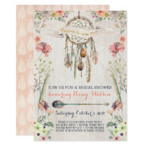 Boho Dream Catcher Bridal Shower Invitations