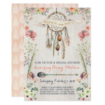 joyonpaper Boho Dream Catcher Bridal Shower Invitations