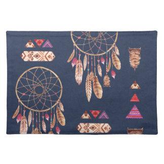 Boho Dream Catcher Pattern Cloth Placemat